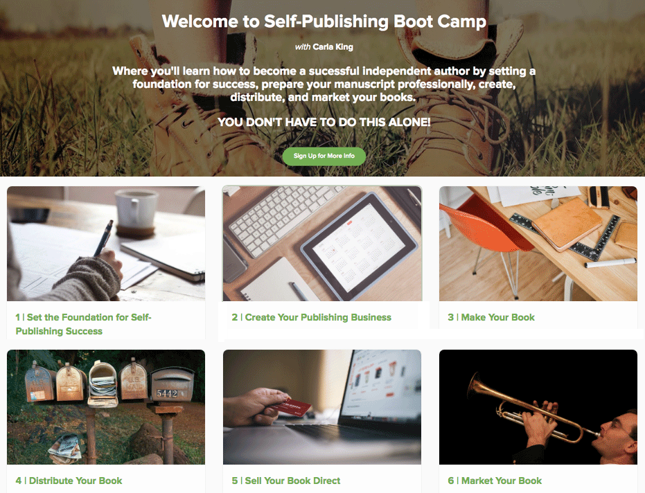Self-Publishing Boot Camp Online Courses Carla King