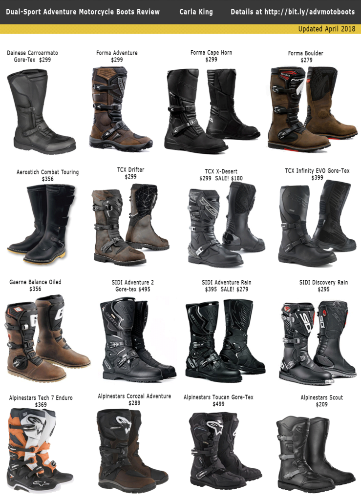 Dual-Sport Adventure Motorcycle Boot Review Carla King Motorcycle Misadventures