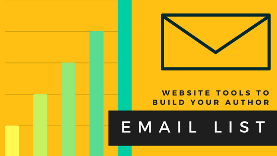 Website tools to build your author email list