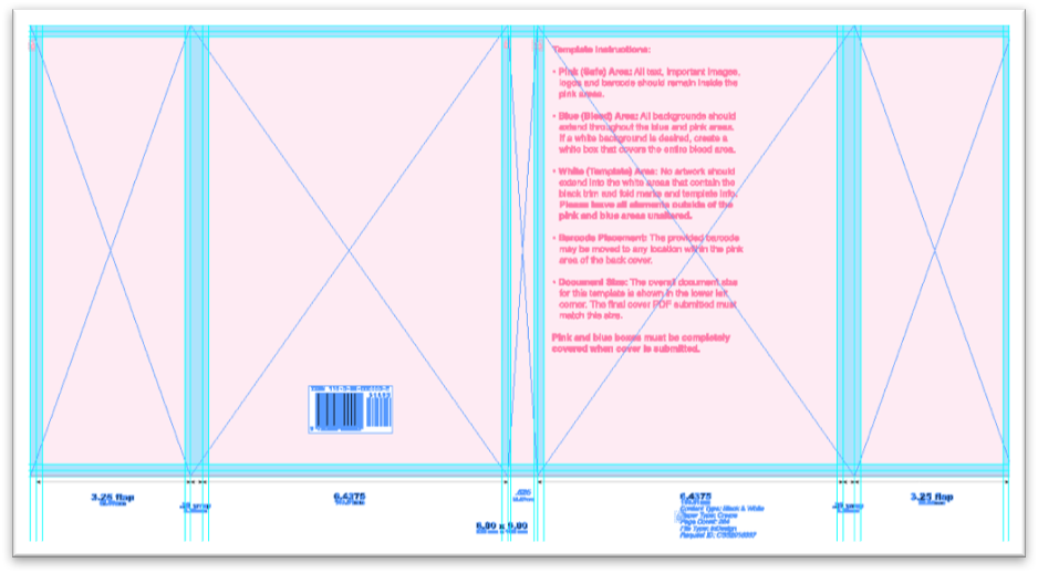 Hardback book cover template
