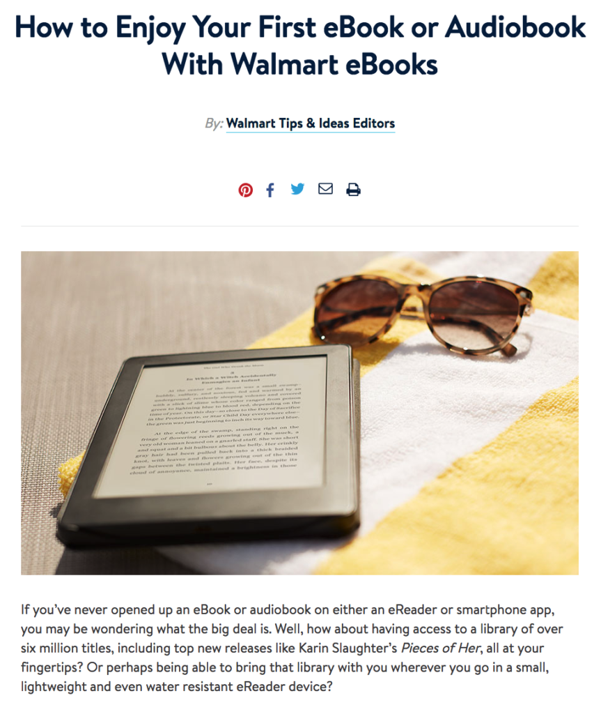 How to use the Walmart ebook app