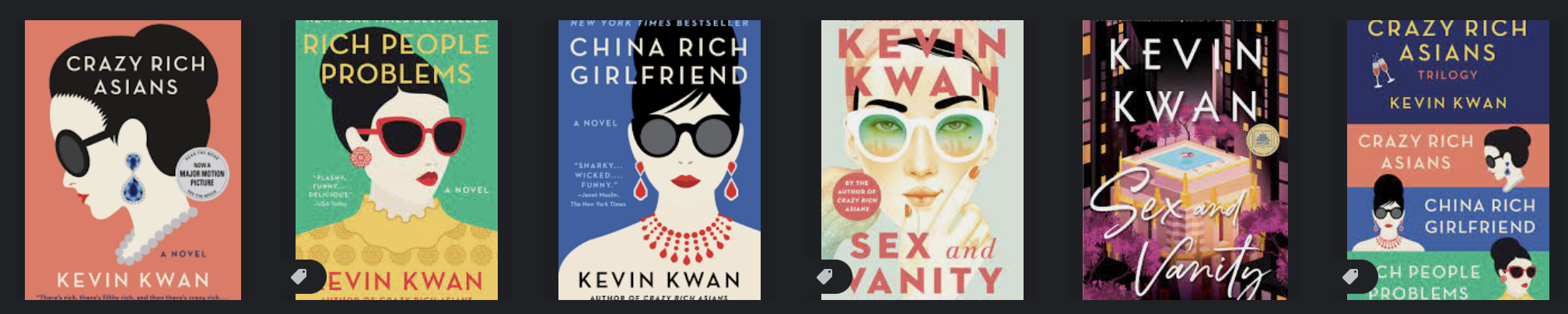 Kevin Kwan book covers