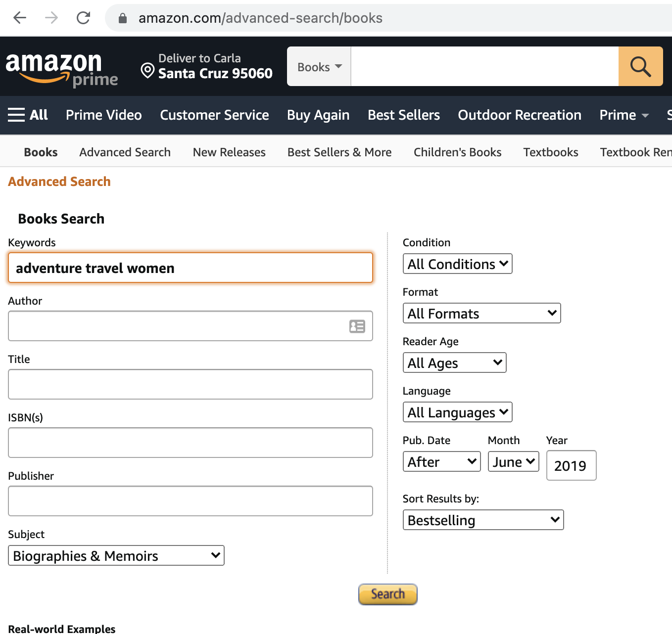Advanced Advanced Search for Book Authors