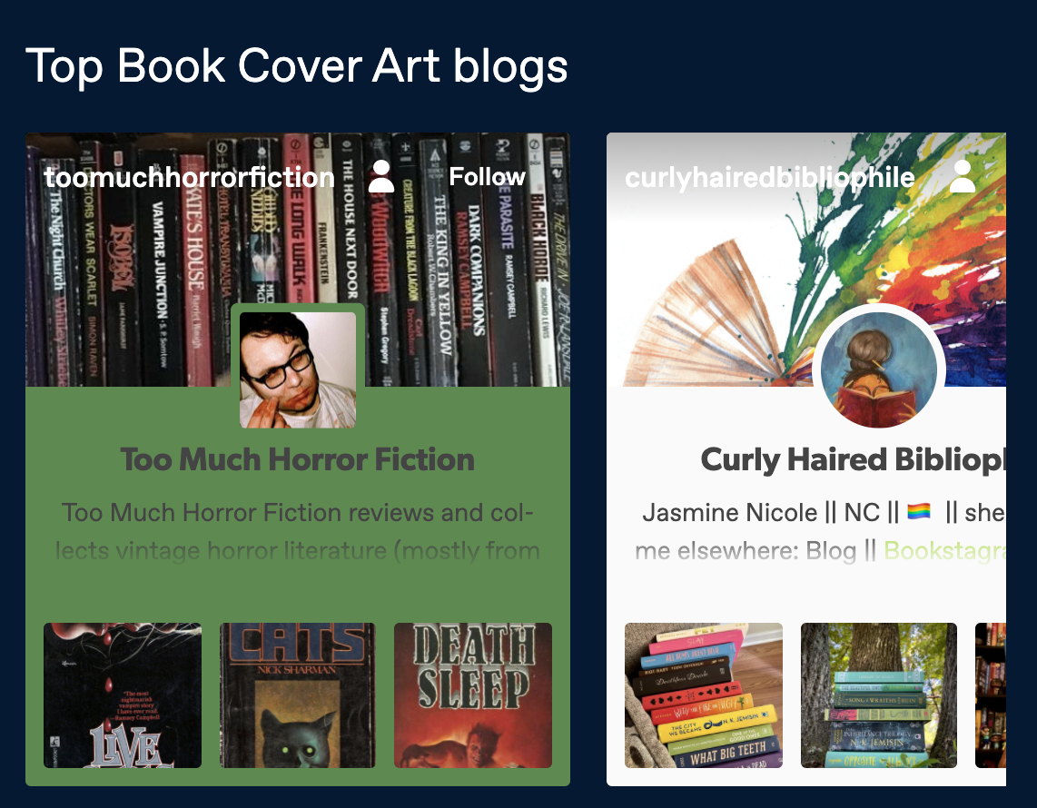 Tumblr for Book Cover Designers and Authors